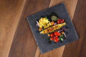 pratos sofisticados em restaurantes