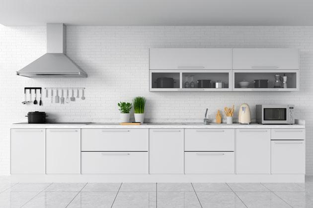Tem dúvida entre aglostone ou quartzo? O quartzo é o ideal para cozinha!