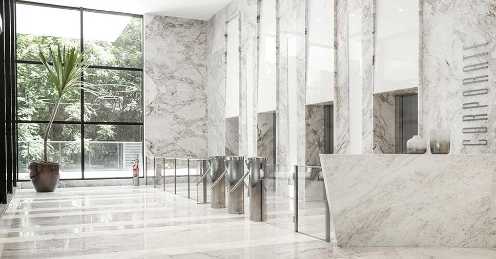 projeto arquitetônico feito com mármore Michelangelo